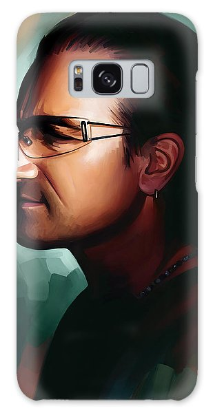 Bono U2 Artwork 1 Galaxy Case by Sheraz A