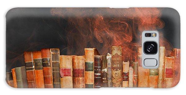 Book Burning Inspired By Fahrenheit 451 Galaxy Case