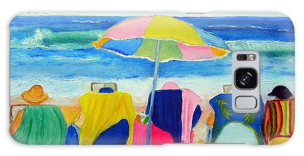 Book Club On The Beach Galaxy Case