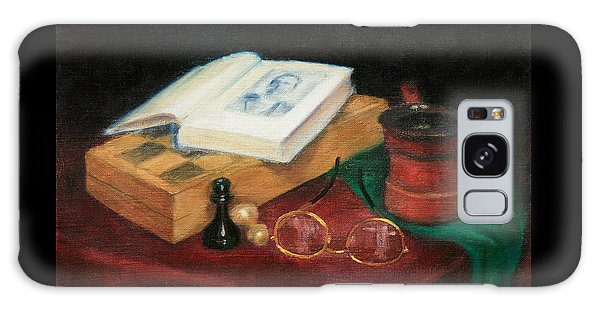 Books-chess-coffee Galaxy Case