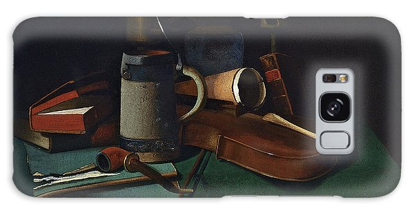 Violin Galaxy Case - Books Mug Pipe And Violin by John Frederick Peto