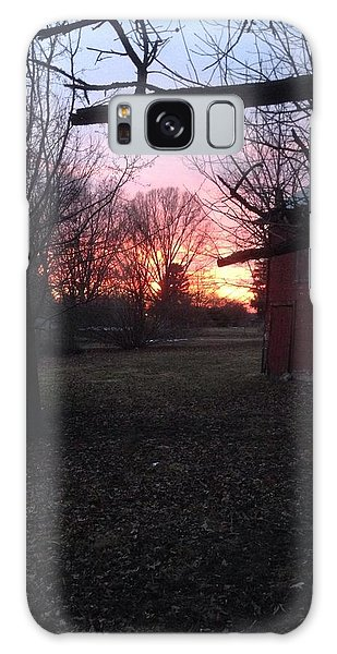 Booth Farm Sunset Galaxy Case