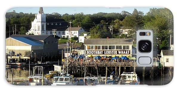 Boothbay Lobster Wharf Maine Galaxy Case by Patricia E Sundik