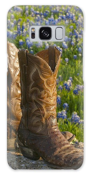 Boots And Bluebonnets Galaxy Case by David and Carol Kelly