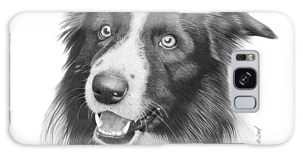 Border Collie -030 Galaxy Case by Abbey Noelle