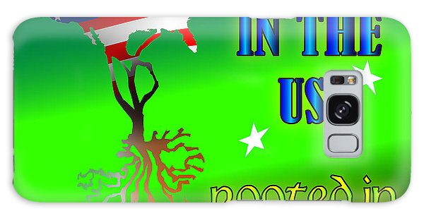 Born In The Usa Rooted In Ireland Galaxy Case