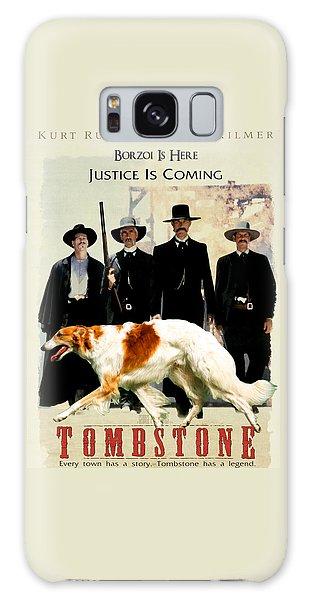 Borzoi Art - Tombstone Movie Poster Galaxy Case