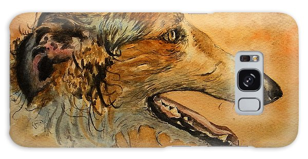 Watercolor Pet Portraits Galaxy Case - Borzoi Dog by Juan  Bosco