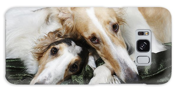 Borzoi Dogs In Love Galaxy Case by Christian Lagereek