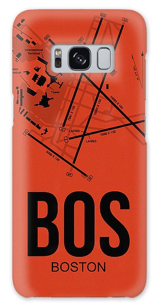 City Scenes Galaxy S8 Case - Boston Airport Poster 2 by Naxart Studio