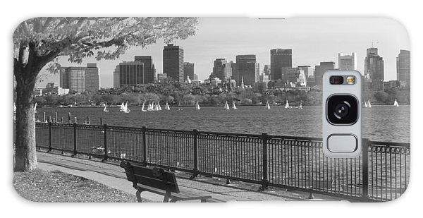 Boston Charles River Black And White  Galaxy Case by John Burk