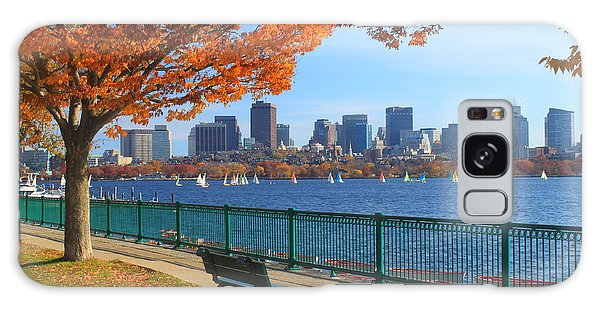 Skylines Galaxy S8 Case - Boston Charles River In Autumn by John Burk