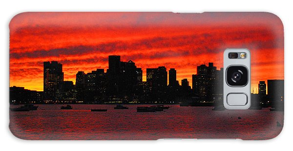 Boston City Sunset Galaxy Case