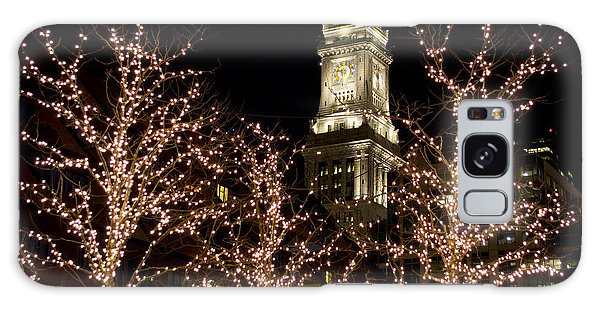 Boston Custom House With Christmas Lights Galaxy Case