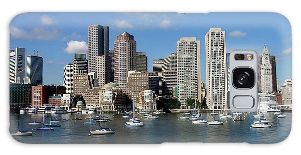 Boston Habor Skyline Galaxy Case