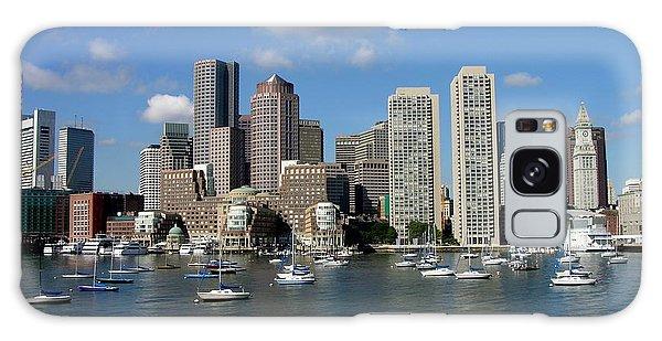 Boston Habor Skyline Galaxy Case