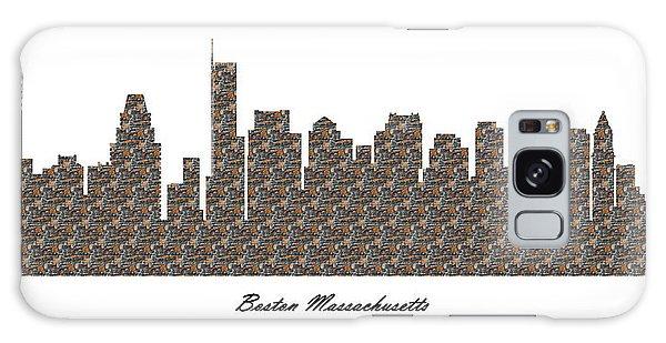 Boston Massachusetts 3d Stone Wall Skyline Galaxy Case
