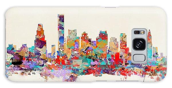Boston Massachusetts Skyline Galaxy Case by Bri B