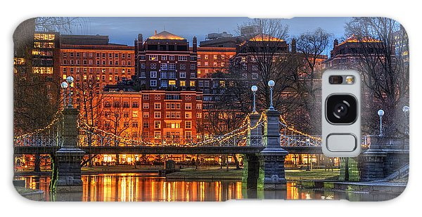Boston Public Garden Lagoon Galaxy Case