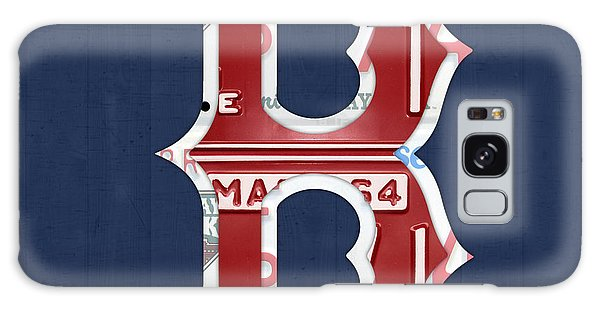 Recycle Galaxy Case - Boston Red Sox Logo Letter B Baseball Team Vintage License Plate Art by Design Turnpike