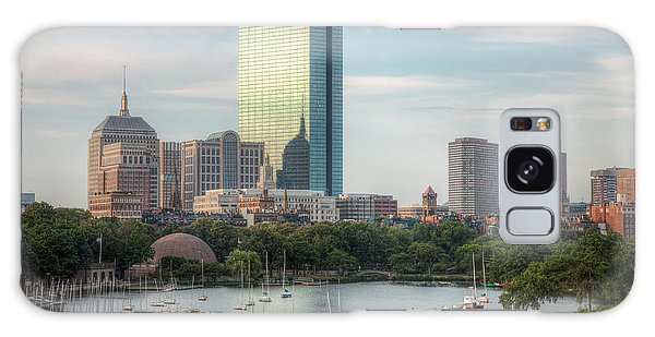 Boston Skyline I Galaxy Case by Clarence Holmes