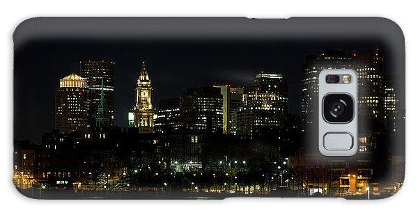 Boston Skyline On An Autumn Night Galaxy Case by John Hoey