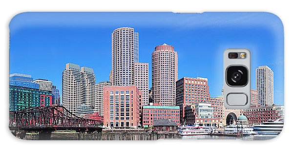 Boston Skyline Over Water Galaxy Case