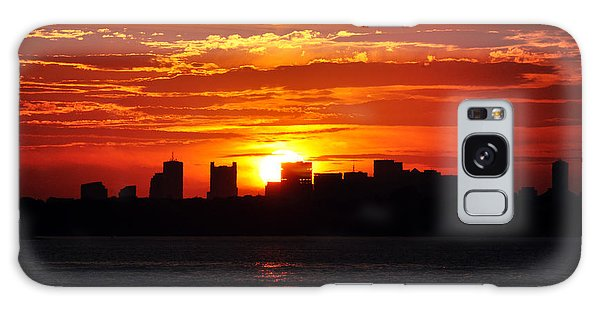 Boston Skyline Sunset Galaxy Case
