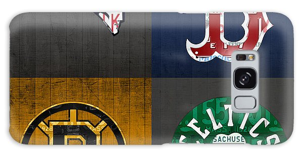 Boston Sports Fan Recycled Vintage Massachusetts License Plate Art Patriots Red Sox Bruins Celtics Galaxy Case