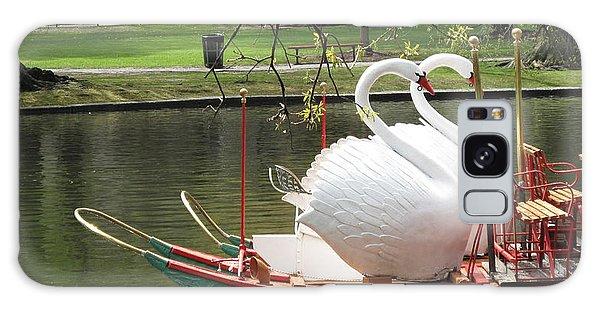 Swan Boats Galaxy Case - Boston Swan Boats by Barbara McDevitt