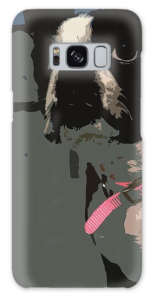 Boston Terrier Art01 Galaxy Case