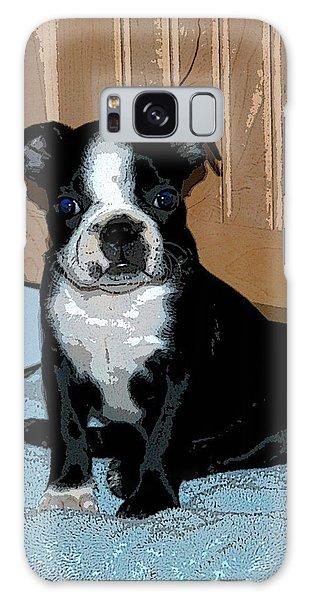 Boston Terrier Art02 Galaxy Case by Donald Williams
