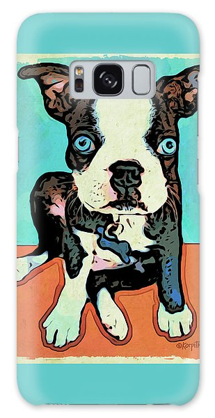 Boston Terrier - Blue Galaxy Case