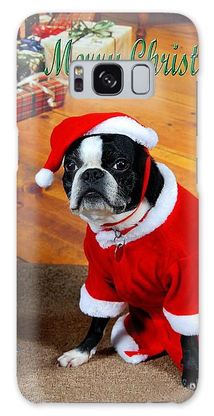 Boston Terrier Christmas Galaxy Case