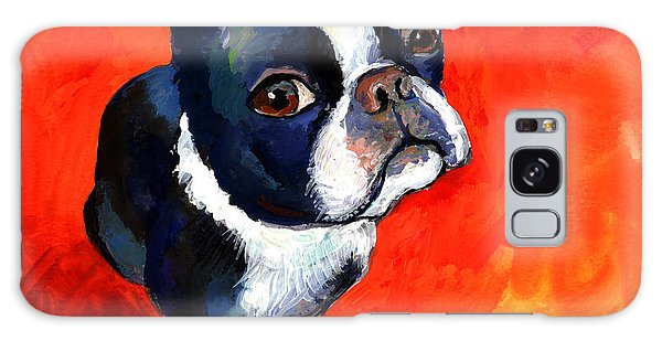 Boston Terrier Dog Painting Prints Galaxy Case
