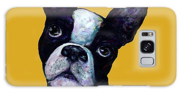 Boston Terrier On Yellow Galaxy Case