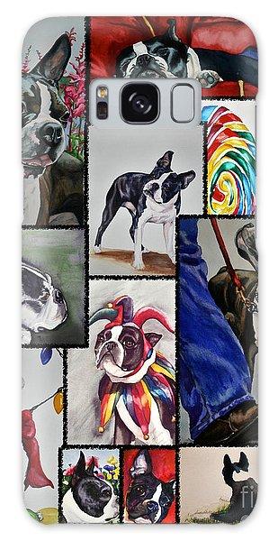 Boston Terrier Watercolor Collage Galaxy Case