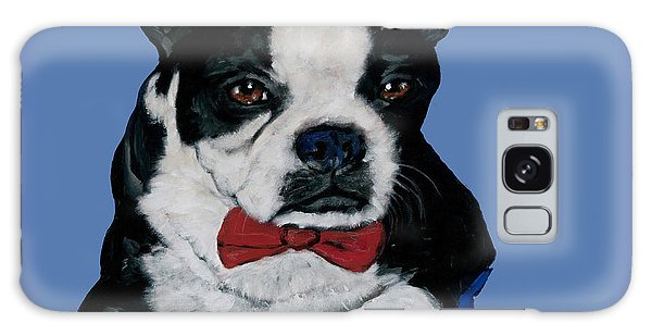 Boston Terrier With A Bowtie Galaxy Case