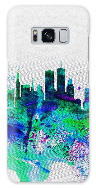 Boston Watercolor Skyline Galaxy Case