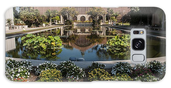 Botanical Building Reflecting In The Lily Pond At Balboa Park Galaxy Case