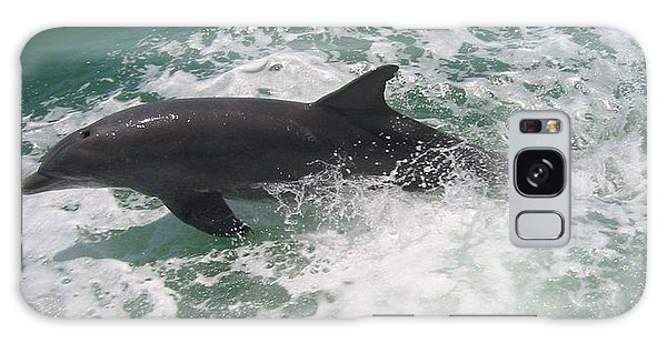 Bottlenose Dolphin Catching A Wave Galaxy Case by Jean Marie Maggi