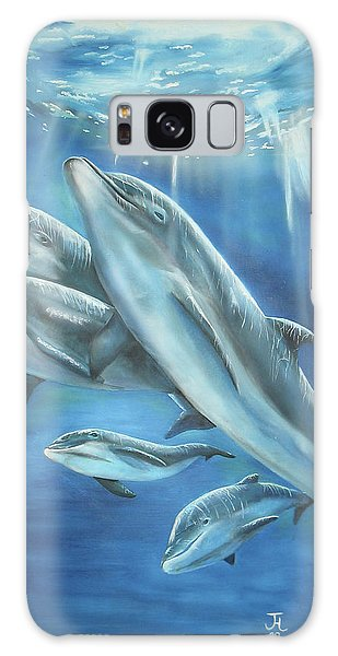 Bottlenose Dolphins Galaxy Case
