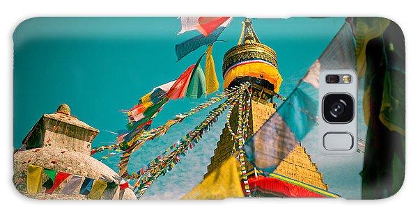 Boudnath Stupa In Kathmandu Nepal Galaxy Case