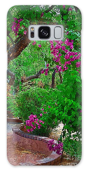 Bougainvillea In The Courtyard Galaxy Case
