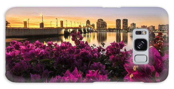 Flagler Galaxy Case - Bougainvillea On The West Palm Beach Waterway by Debra and Dave Vanderlaan