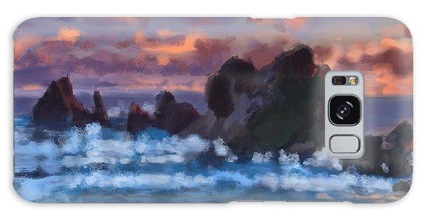 Boulder Coastal Beach Galaxy Case
