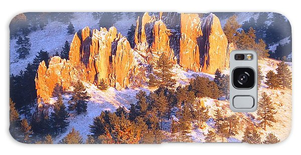 Boulder Red Rocks Glowing Galaxy Case