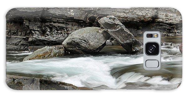 Boulders In Mcdonald Creek Galaxy Case