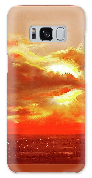 Bound Of Glory - Red Sunset  Galaxy Case