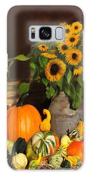 Bountiful Harvest - Floral Painting Galaxy Case